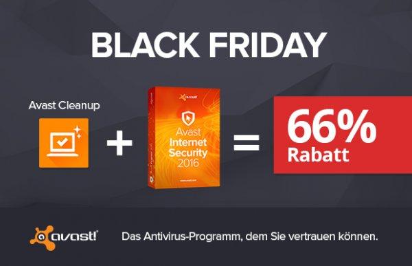Avast Software - @Black Friday Deals - 66% RABATT auf ausgewählte Produkte