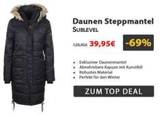 [Black Friday Sale bei fashion5]  Daunen Steppmantel für 37,90€ (ohne Newsletter 42,90€) + Qipu 4%