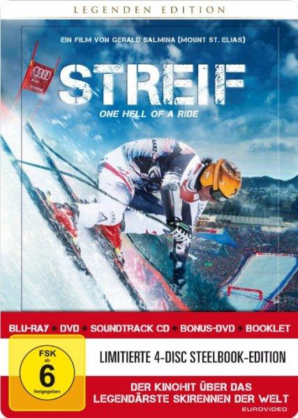 [Amazon] Blitzangebot: Streif - Legenden Edition im Steelbook - 4 Disc [1 Blu-ray/2 DVDs /1 CD] [Limited Edition]