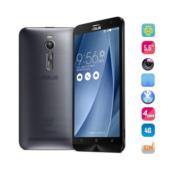 "Asus ""Zenfone 2"" (ZE551ML)  Dual-SIM LTE (5,5'' Full HD IPS, Intel SoC, 4 GB RAM, 16 GB erweiterbar, 3000 mAh, kein Hybrid-Slot, Android 5.0 -> Android 6) für 215,29€ [Amazon.fr]"