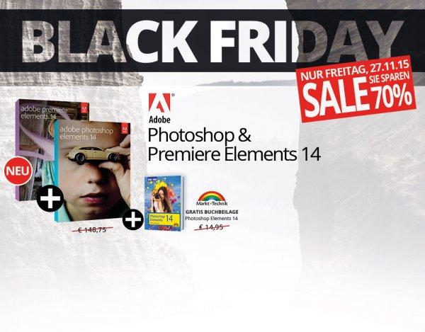 Adobe Photoshop & Premiere Elements 14 + Buchbeilage @Black Friday
