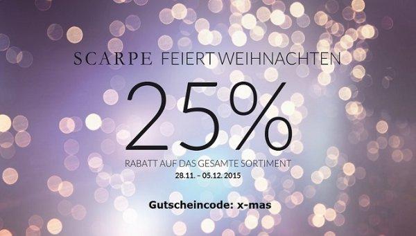 SCARPE feiert X-MAS: 25% auf Alles (auch auf Sale) ; z.B. Liebeskind Slam vintage für 44,9€statt 59,90