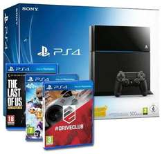Sony PlayStation 4 500GB Bundle inkl. Driveclub, Little Big Planet 3, The Last of Us: Remastered (PS4)