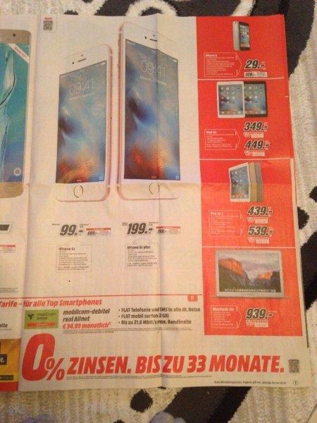 mobilcom Vertrag mit iPhone 6s (Plus) für monatlich 34,99
