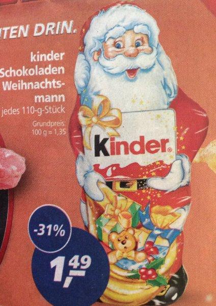 (Real)Kinderschokoladen Weihnachtsmann (110 Gramm) für 1,49€