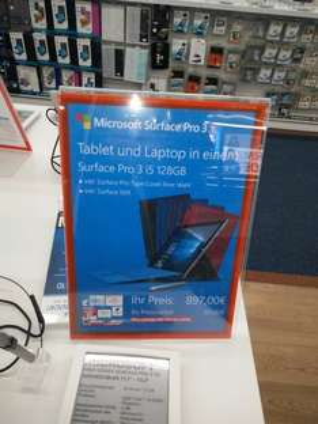 [Lokal Berlin Spandau Saturn] Surface Pro 3 mit Tastatur 897€ - I5, 128 GB