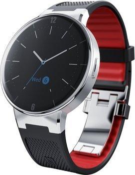 Alcatel Wave Smartwatch 3.1 cm (1.22 Zoll) für Android und iOS Schwarz/Rot inkl. Vsk für 74,67 € > [amazon.fr Black Friday]