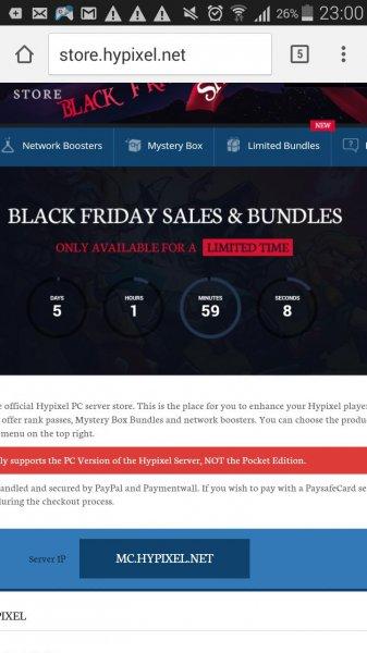 [@Blackfriday]Bis zu 80% auf Hypixel Online Store Artikel
