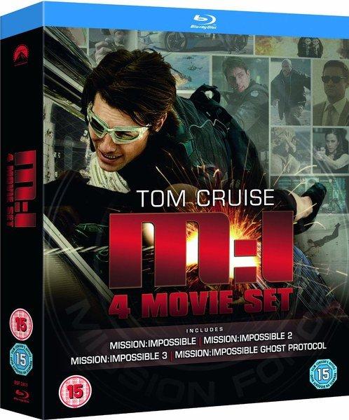 Mission Impossible 1-4 Blu-ray-Box für 11€ @Zavvi.de 1-3 auf Deutsch, Teil 4 OT