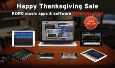 Happy Thanksgiving: 50% OFF on All KORG iOS music apps and plugins!