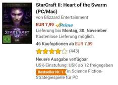 *abgelaufen* 7,99€ Starcraft 2: Heart of the Swarm [Amazon Prime]