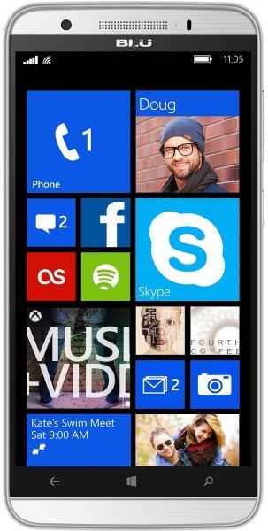 """BLU Windows HD LTE + Dual-Sim Smartphone (5"""" HD-Display, 4x 1.2 GHz, 1GB Ram, 8 GB Speicher (erweiterbar), 8MP Kamera, Windows 8.1 ab 84,75€ bei Amazon.fr"""