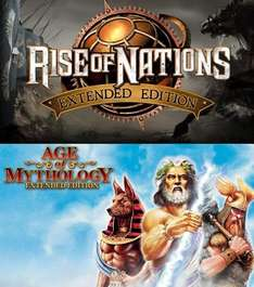 Rise of Nations Extended Edition 4.98€, Age of Mythologie Extended Edition 6.98€