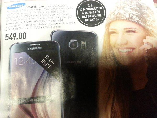 Samsung Galaxy S6 G920F 64 GB schwarz Marktkauf