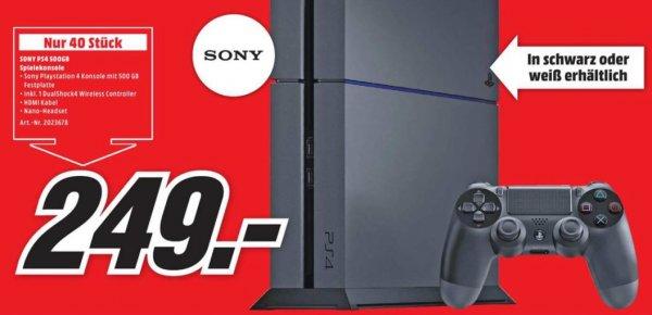 Playstation 4 500 GB schwarz oder weiß [Lokal Mediamarkt Neunkirchen]