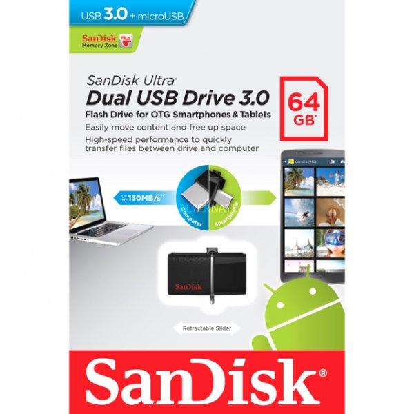 17,99€ SanDisk 2in1 USB 3.0 Stick OTG 64 gb [Kaufland] ab 3.12 oder 7.12