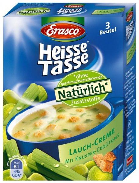 [Amazon.de-Prime-Sparabo] Heisse Tasse Lauch-Creme mit Croûtons Faltschachtel á 3 Beutel á 0,15 l, 12er Pack (12 x 450 ml) ab 6,54€