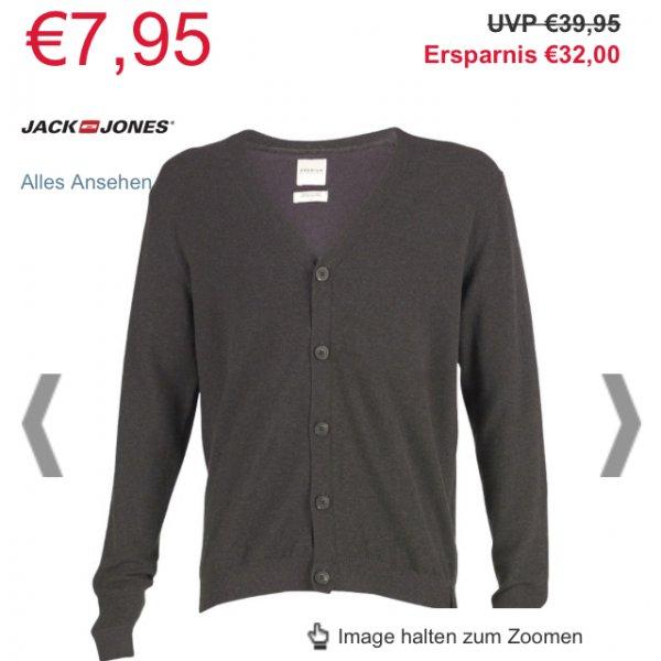 [Online M&Mdirect Cyber Monday] (kostenloser Versand ab 45€)Jack&Jones Strickjacke, 7,99 statt 39,99€ S-XXL Dunkelgrau