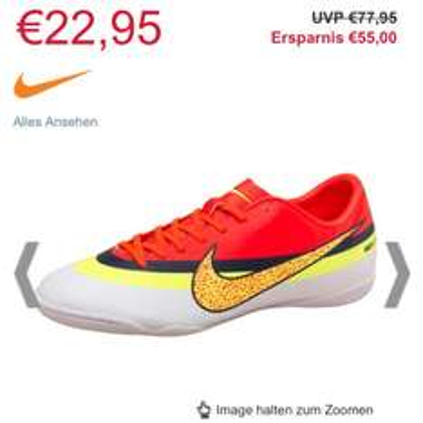 [Online M&Mdirect] Nike Mercurial Victory 4, Christiano Ronaldo Fußballschuhe, 22,95€+4,99€ Versand (ab45€MBWkostenlos) 8% Qipu evtl. möglich