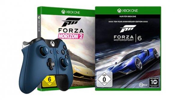 Xbox Racing Bundle: Xbox One Controller Forza 6, Forza 6 und Forza Horizon 2 für 125,98 € | Microsoft Store