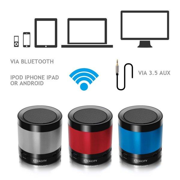 Amazon.de: Etekcity RoverBeats T16 Tragbarer Wireless Bluetooth Lautsprecher mit eingebautem Mic und Mini Tragetasche (mit Blackfriday Gutschein)