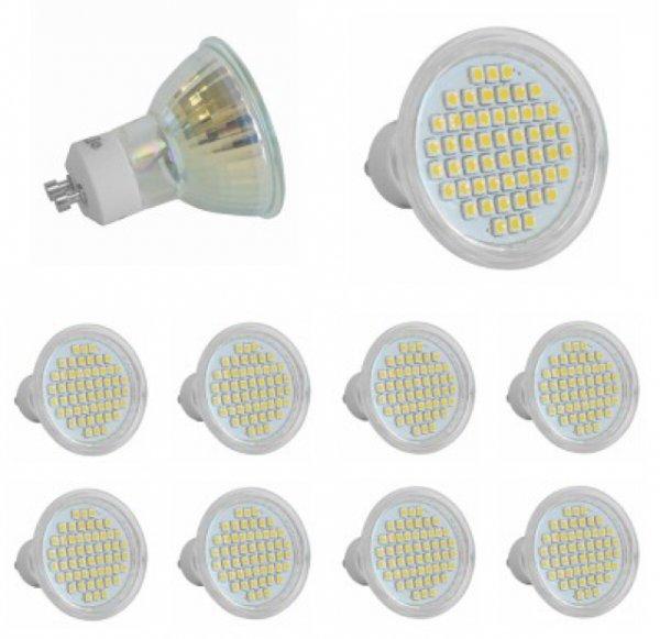 10 x LED Leuchtmittel GU10 3 W