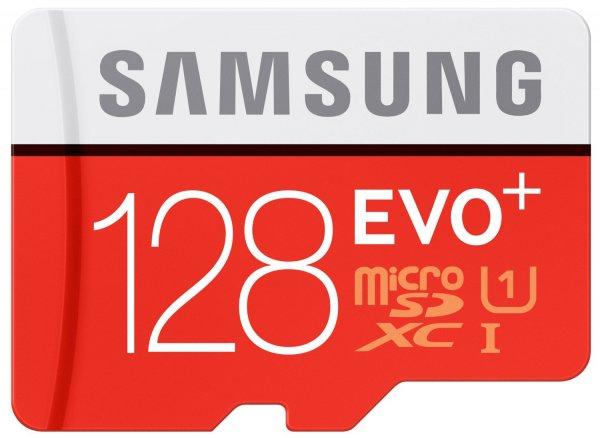 Samsung Speicherkarte MicroSDXC 128GB EVO Plus UHS-I Grade 1 Class 10 für Smartphones und Tablets, mit SD Adapter @Cyber Monday