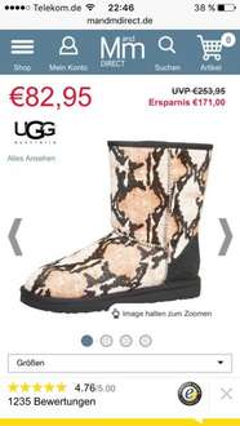 """[Online M&Mdirect]  UGG halbhohe Klassikstiefel für """"Trendsetterdamen"""" ;) UVP 253€"""