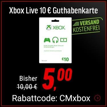 10€ Xbox Live Guthaben für 5€ (geht wieder, 1 pro Person) - NBB inkl. Versandkosten Cyber Monday