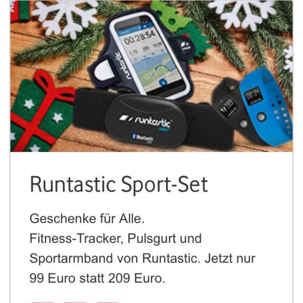 [Online Vodafone+Shops] Runtastic Sport Set, je nach Krankenkasse evtl. Kostenübernahme!, Fitnesstracker Orbit, Brustgurt, Sportarmband