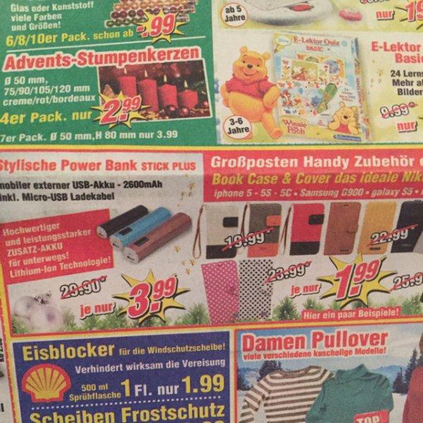 Powerbank 2600mAh für 3,99€