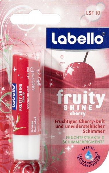 [Amazon Sparabo] Labello Lippenpflege Fruity Shine Cherry, 2er Pack (2 Stück) für 0,88€