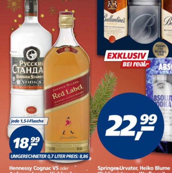 Real Johnnie Walker Red/Russian Standard 1,5 Liter