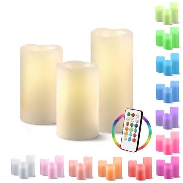 [eBay-WOW] 3er Set LED Echtwachskerzen - 14,99€