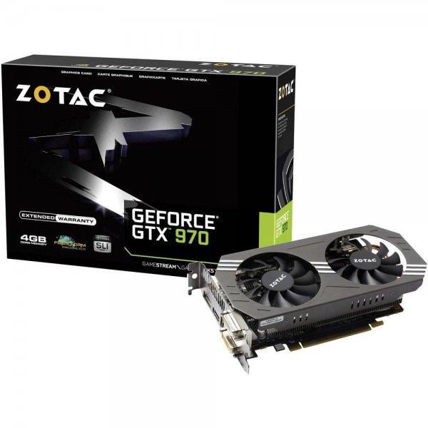 ZOTAC Nvidia GeForce GTX970 4 GB für 297,50€ (Idealo 329,91€)