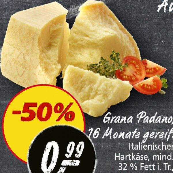 [Real] Grana Padano, zum halben Preis von nur 0,99€/100g