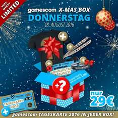 [Gamescomwear] Gamescom X-MAS Box Ticket 2016 + diverse Zugaben (limitiert)