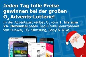 [O2 Prepaid ] - Jeden Tag gewinnen bei der großen Advents-Lotterie