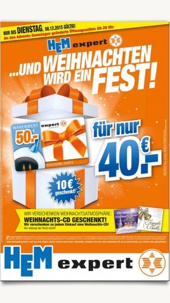 50€ Gutschein für 40€ EXPERT - entspricht 20% auf alles!