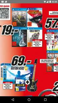 Until Dawn,God of war 3 remastered, CoD AW,The order je 19€ Mediamarkt
