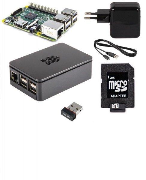 Raspberry Pi 2 Set + Gehäuse + Netzteil + 8GB + WLAN