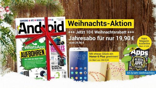 Android Magazin Jahresabo für 19,90€ statt 29,90€ + Gewinnchance
