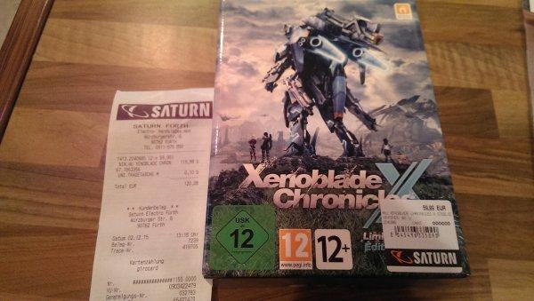 Lokal Saturn Fürth - Xenoblade Chronicles X Limited Steelbook Edition WiiU - Release 4.12
