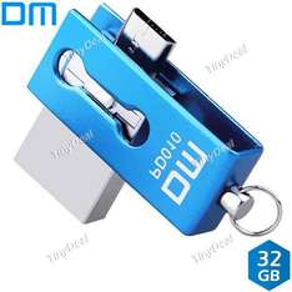 Mini 2-in-1 USB & Micro USB, 32 GB, 2.0, OTG-Funktion, Metall, spritzwasserfest (tinydeal)