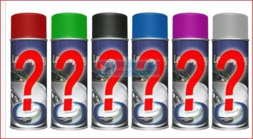 [Ebay] 6 x 400ml Lackspray(Acryllack), gemischte Farbtöne KEINE Farbauswahl möglich, max 2x pro Haushalt/Account