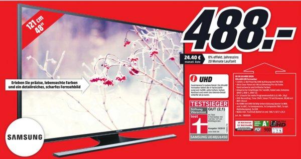 (lokal MM Ansbach) Samsung UE48JU6450 - UHD, SMART TV, Triple Tuner, EEK A+, 4x HDMI, 3x USB [PVG: 620€]