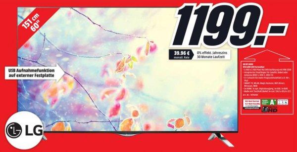 [lokal] MM Ansbach - LG 60UF6959 UHD TV für 1199 EUR statt 1449 EUR