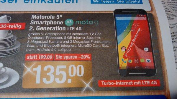 [V-Markt] Motorola Moto G LTE 4G (2. Generation)