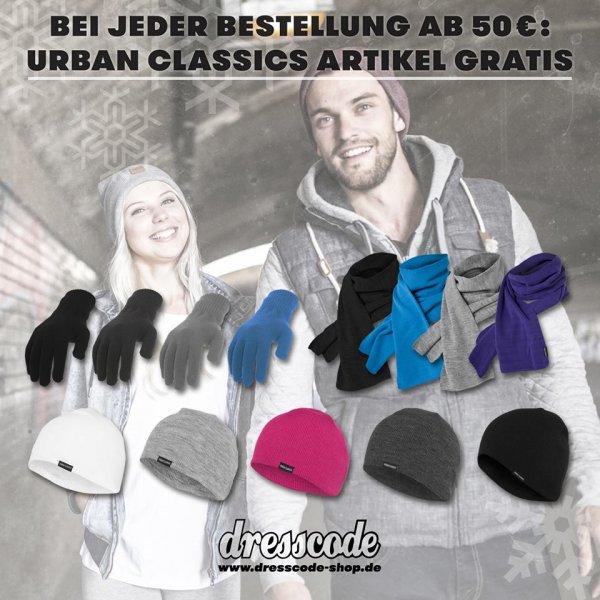 Kostenlose Mütze, Handschuhe, Schal von Urban Classics