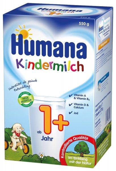 [Amazon Prime] Humana Kindermilch ab 1 Jahr und ab 2 Jahren (jeweils 2x 550g) 13,90€ zusätzlich 2€ Coupon aktivierbar und Spar-Abo möglich